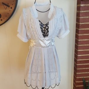Vintage Silk Sheer Babydoll Lace Blouse